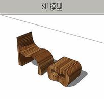 木质组合座椅