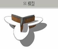 三叶子形状坐凳
