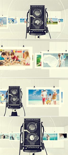 摄影悬挂照片相册模板