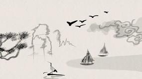 水墨国画艺术视频