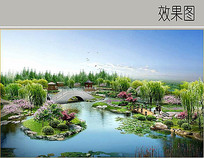 水中央景观效果图
