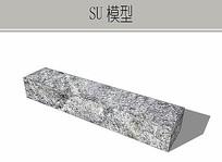 条石坐凳 skp