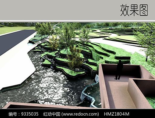 现代公园入口效果图图片