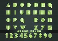 英文字母绿色植物