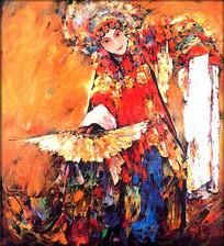 中国风戏剧美女装饰无框画