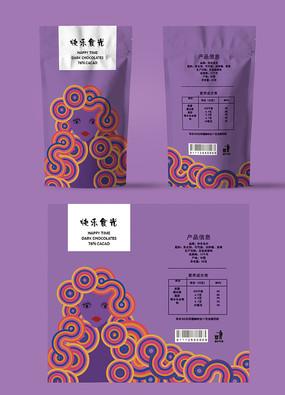 紫色艺术巧克力包装