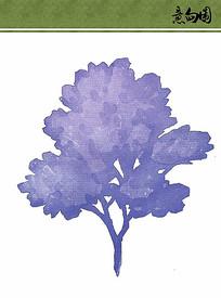 紫色植物手绘ps素材