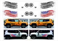 美国国旗车贴