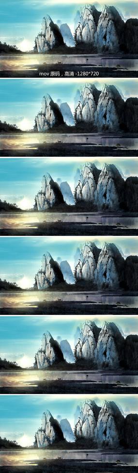 山水意境水墨视频