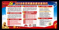 2018年党风廉政建设展板