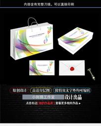 包装系列展开图手提袋设计