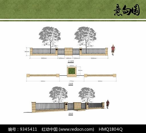 别墅入户围墙设计图片