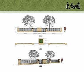 别墅入户围墙设计