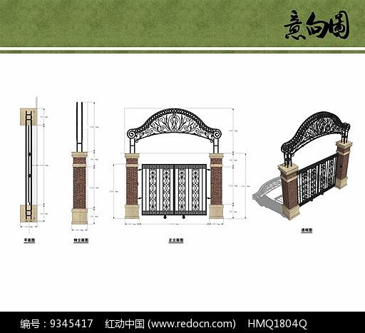 别墅围墙设计图片