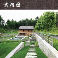 别墅住宅庭院景观