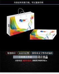 彩色宣传包装盒手提袋设计