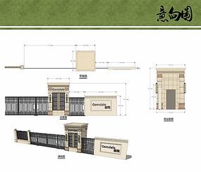 次入口围墙设计