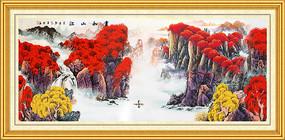 国画山水客厅装饰画
