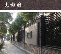 红砖铁艺围墙 JPG