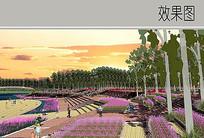 花卉观赏广场效果图