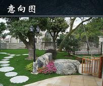 花园小区园林景观实景图