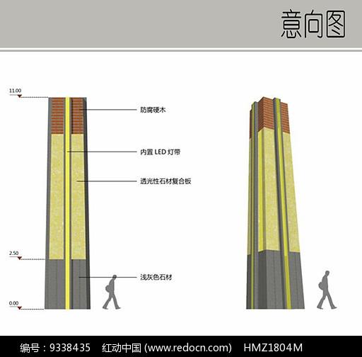景观灯柱设计图片