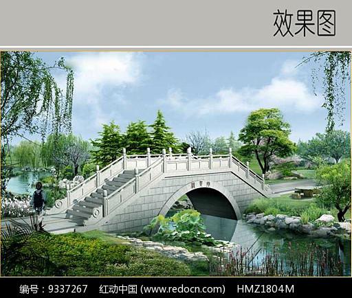 景观桥图片