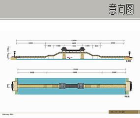 景观人行桥详图
