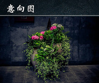 景观小品花卉植物
