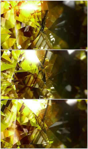 金色水晶砖石玻璃背景视频素材