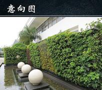 酒店大门景观小品 JPG
