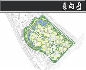 某高级别墅区景观彩平图