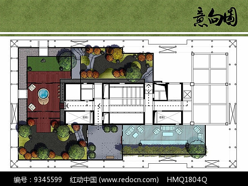日式花园设计平面图