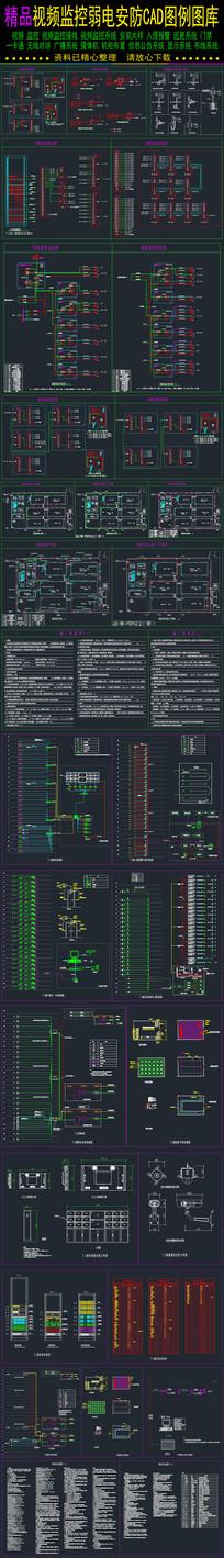弱电安防系统图视频监控CAD