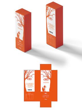 橘色创意饮品包装盒 AI