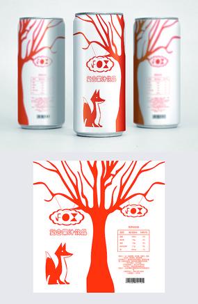 橘色可爱饮品包装 AI