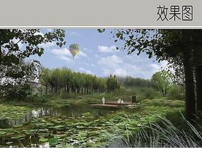 生态湿地风景效果图