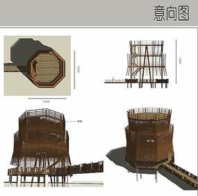 湿地观景塔设计
