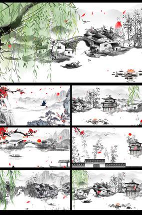 水墨山水中国风视频模板