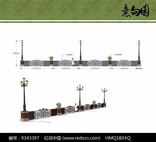 铁艺栏杆设计图片
