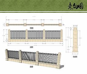 小区围墙设计