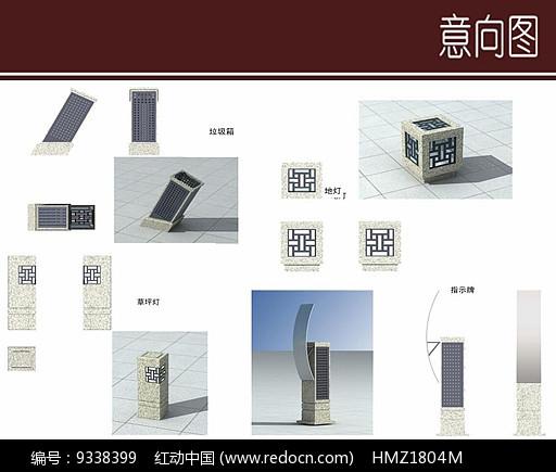 中式特色景观灯设计图片