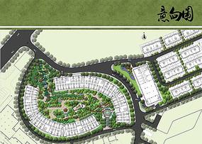 住宅区景观设计总平面图