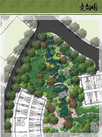 住宅区水景花园设计平面图