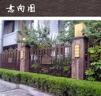 住宅小区铁艺围墙 JPG
