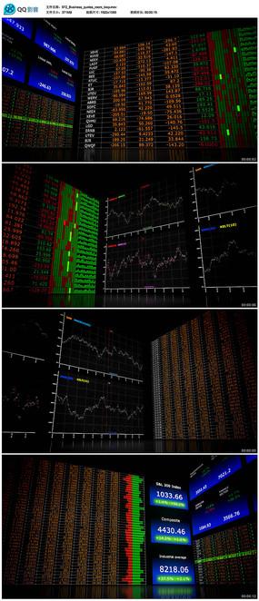 大屏股票涨跌曲线图