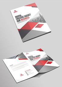 红色高端企业画册封面设计