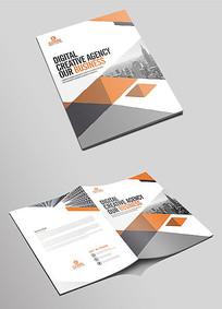 简洁大气企业文化宣传画册封面