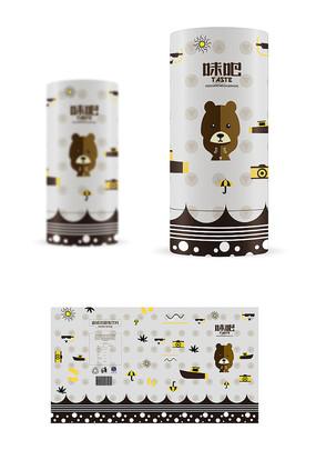 迷你熊零食包装设计