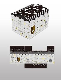 迷你熊零食盒子包装设计
